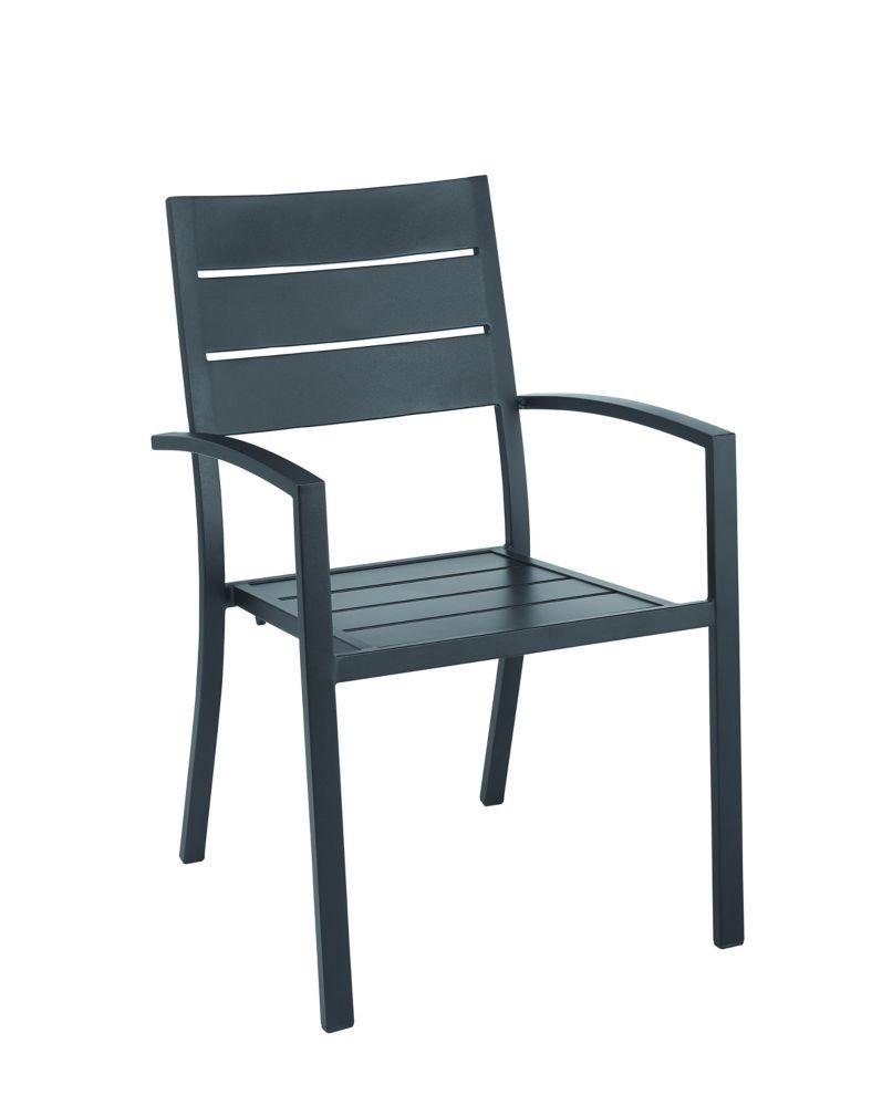 mix match horizontal slat back stacking patio chair
