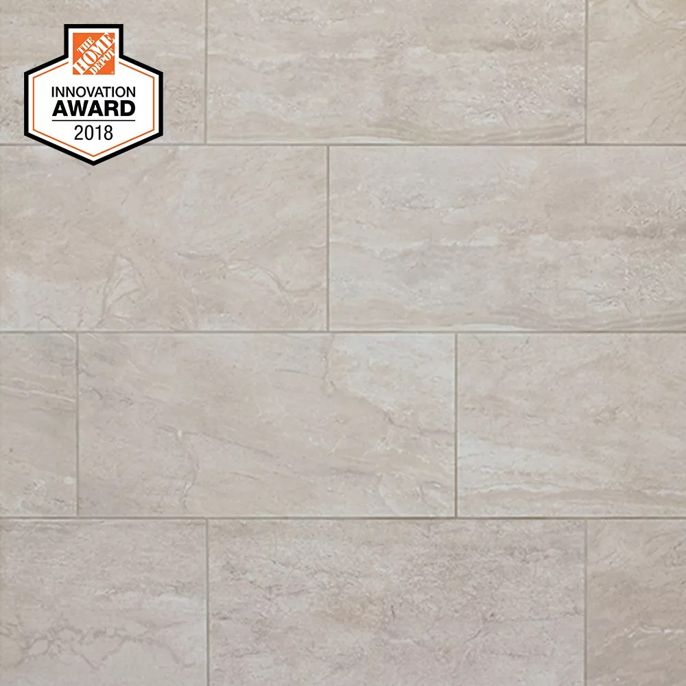silverlake 12 inch x 24 inch glazed porcelain floor and wall tile