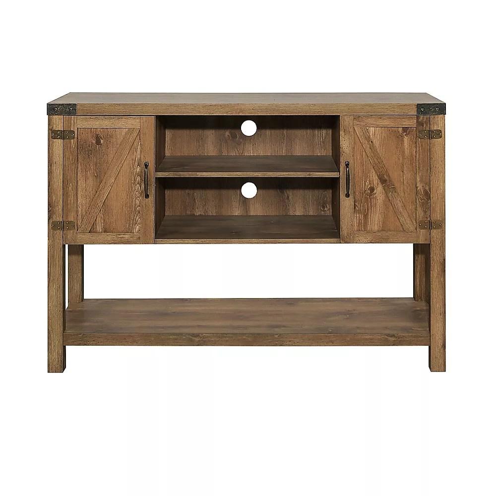meuble tv console table porte de grange en bois de 132 cm 52 po