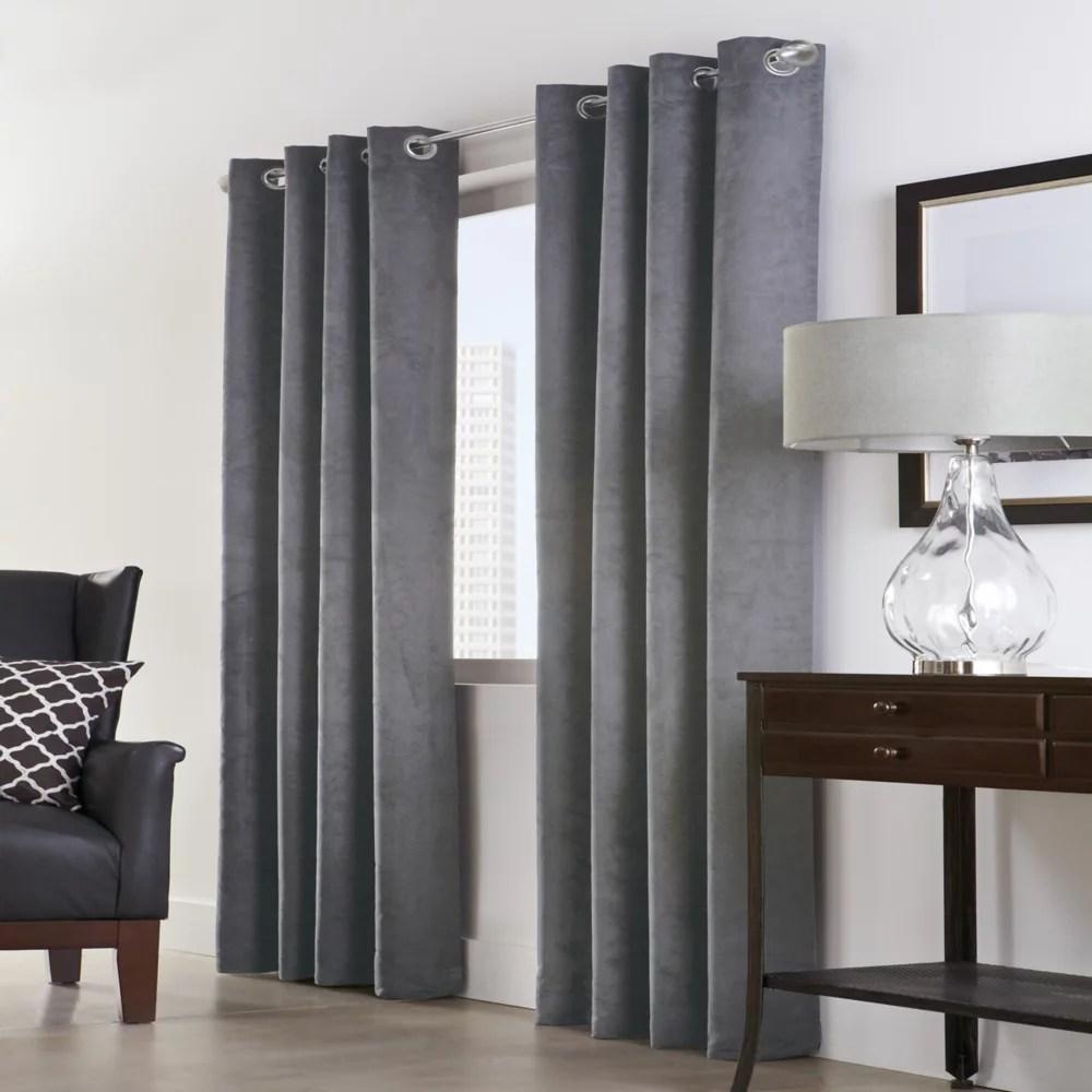 navar total blackout grommet curtain panel 54 w x 84 l in dark grey