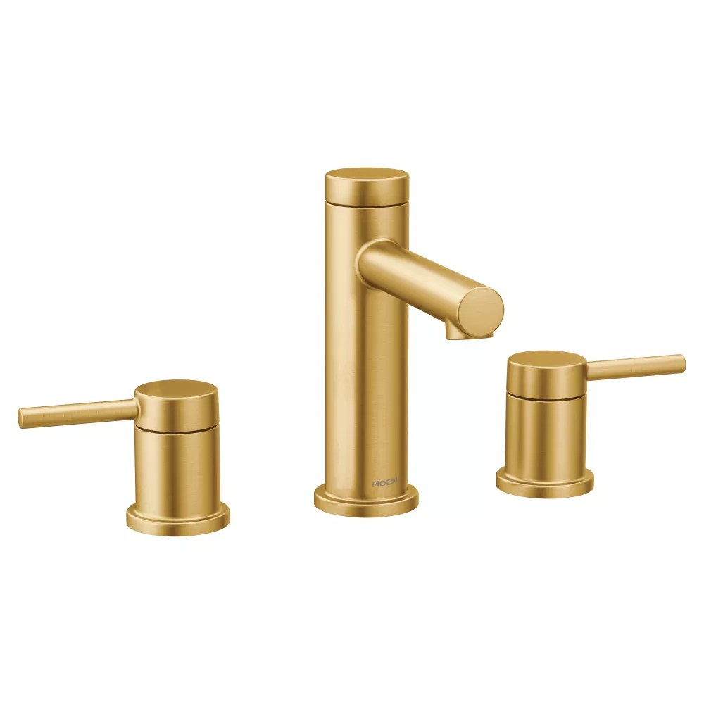 align 8 inch widespread 2 handle bathroom faucet trim kit in brushed gold valve not included