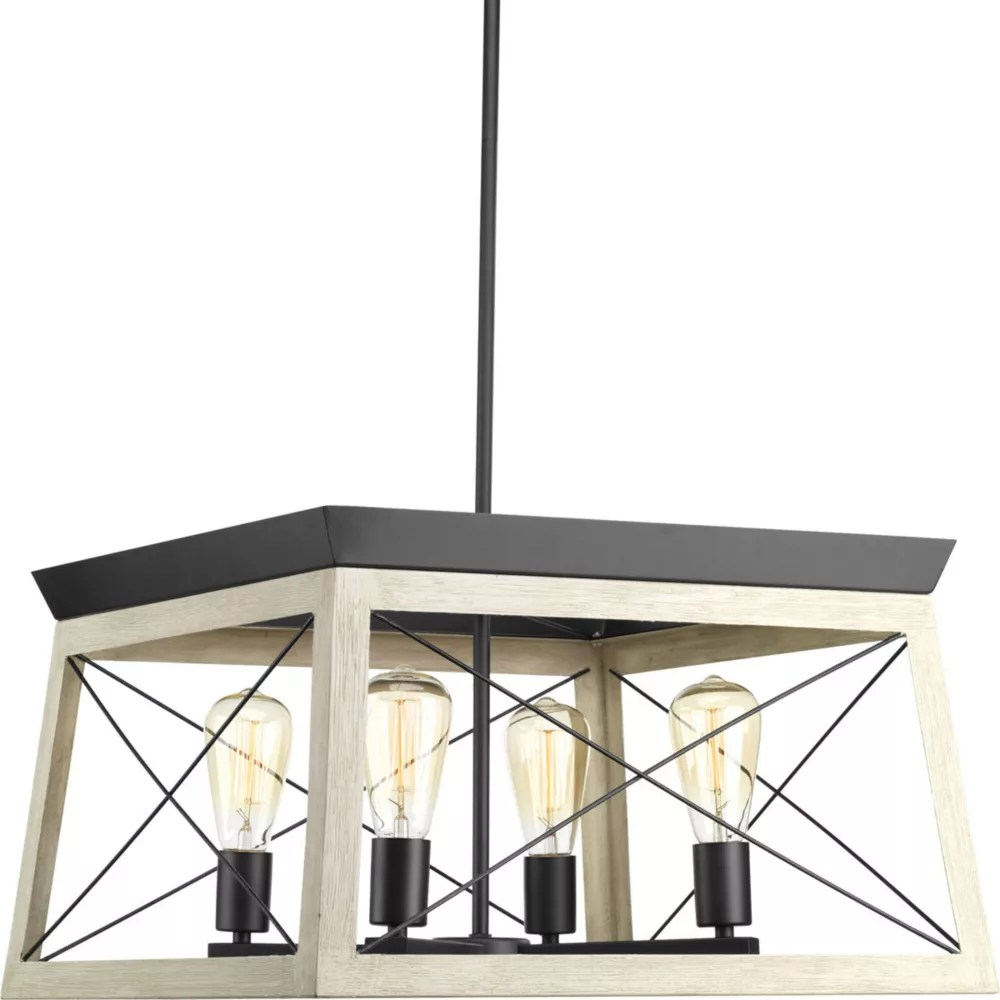 briarwood collection 4 light graphite chandelier