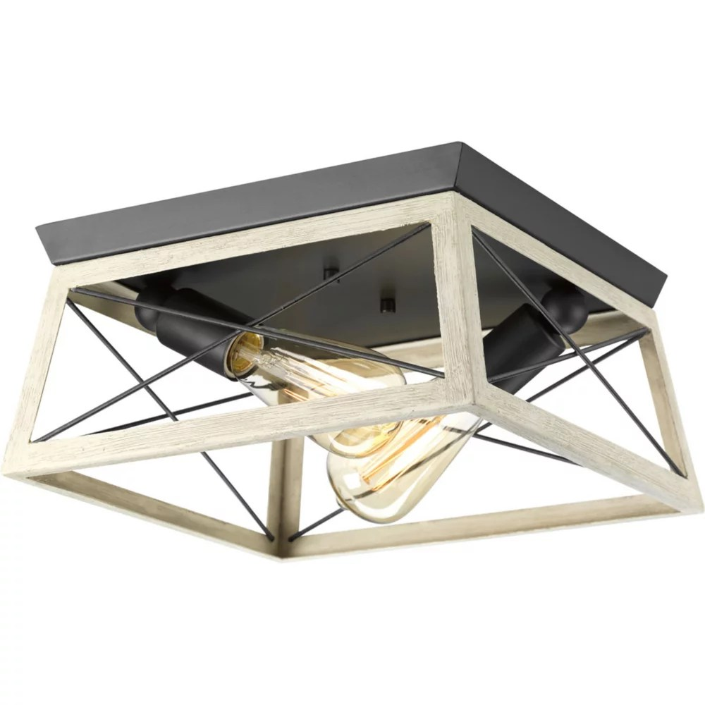 briarwood collection 2 light graphite flushmount