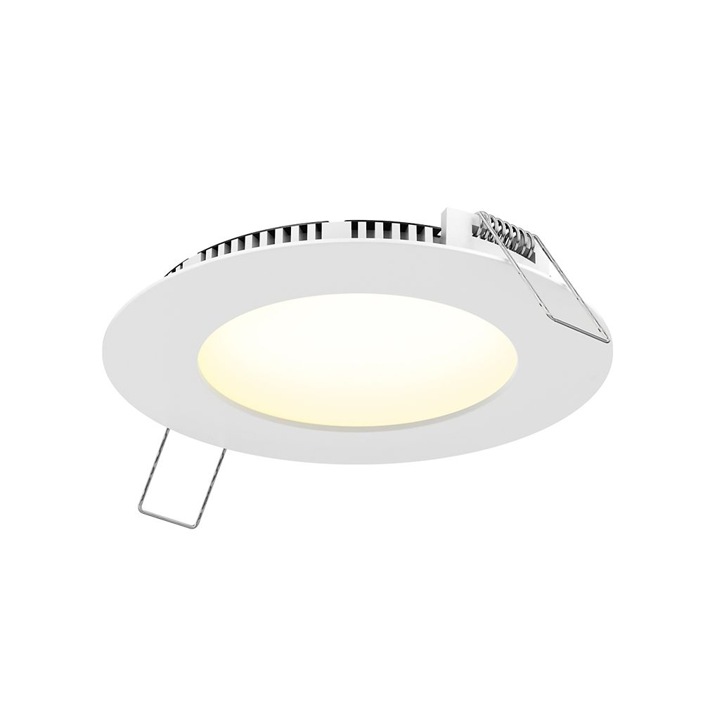 4 inch led white recessed panel light with selectable colour temperature 600 lumens