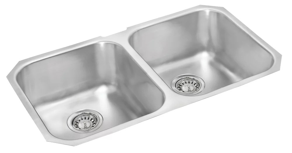 stainless steel double bowl undermount sink 18 inch x 31 inch x 8 inch