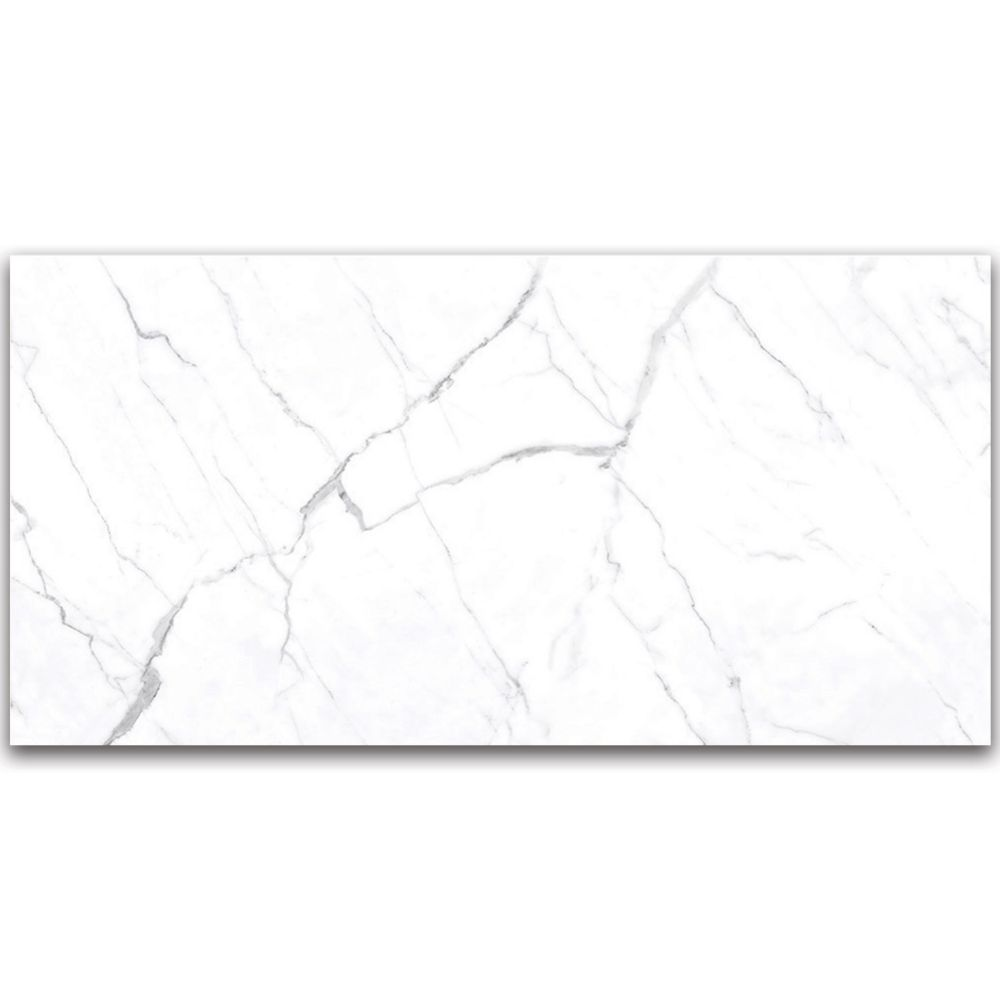 statuario 24 inch x 48 inch polished rectified porcelain tile 15 5 sq ft case