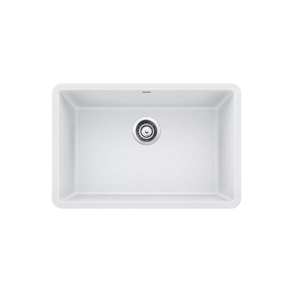 precis u single 27 single bowl undermount kitchen sink silgranit white