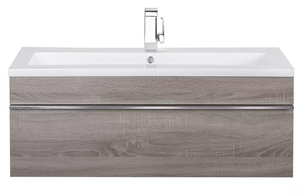 Cutler Kitchen Bath Trough Collection 42 Inch Wall Mount Modern Bathroom Vanity Dorato The Home Depot Canada
