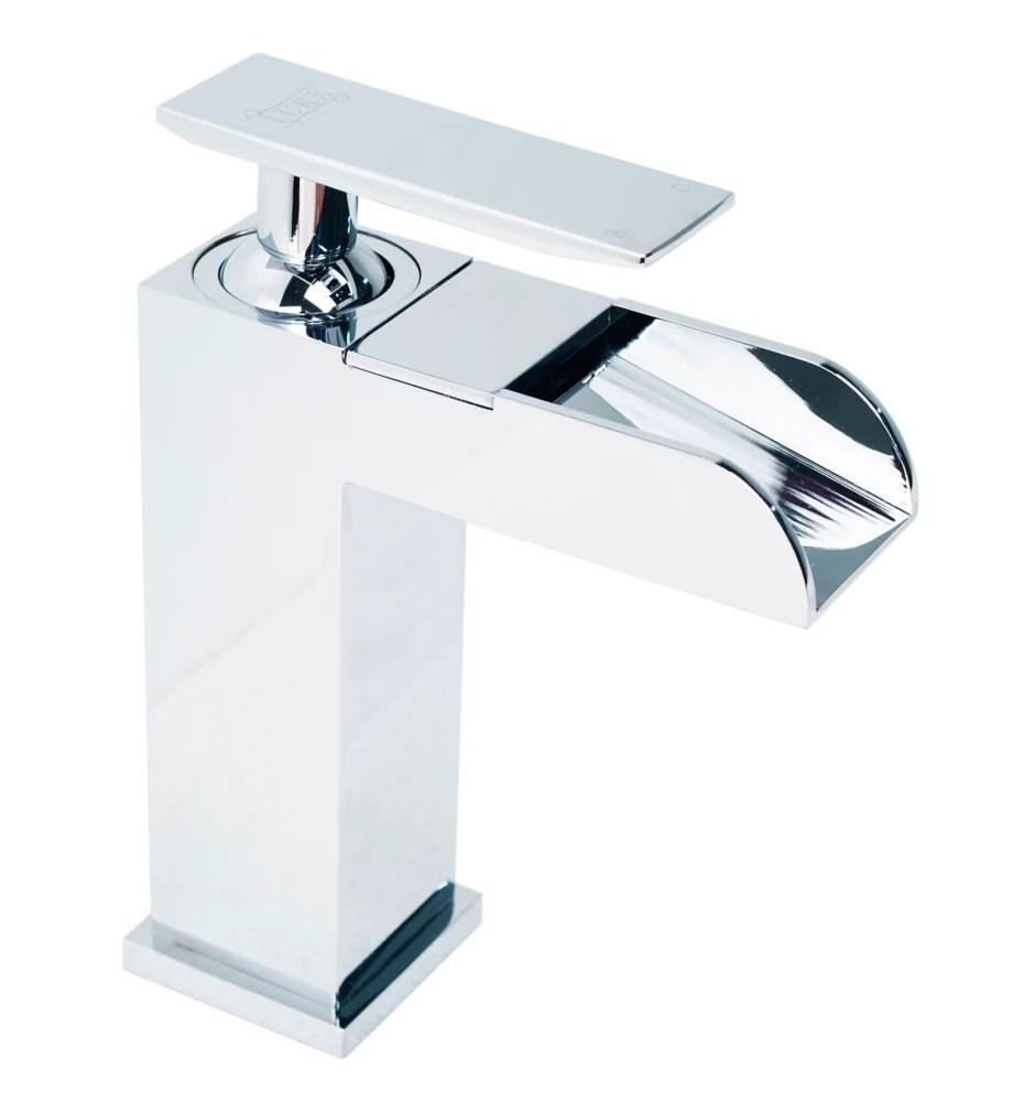 splash john waterfall single handle bathroom faucet in chrome