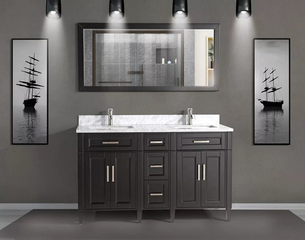 Vanity Art Savona 60 Inch Vanity In Espresso With Double Basin Vanity Top In White And Gre The Home Depot Canada