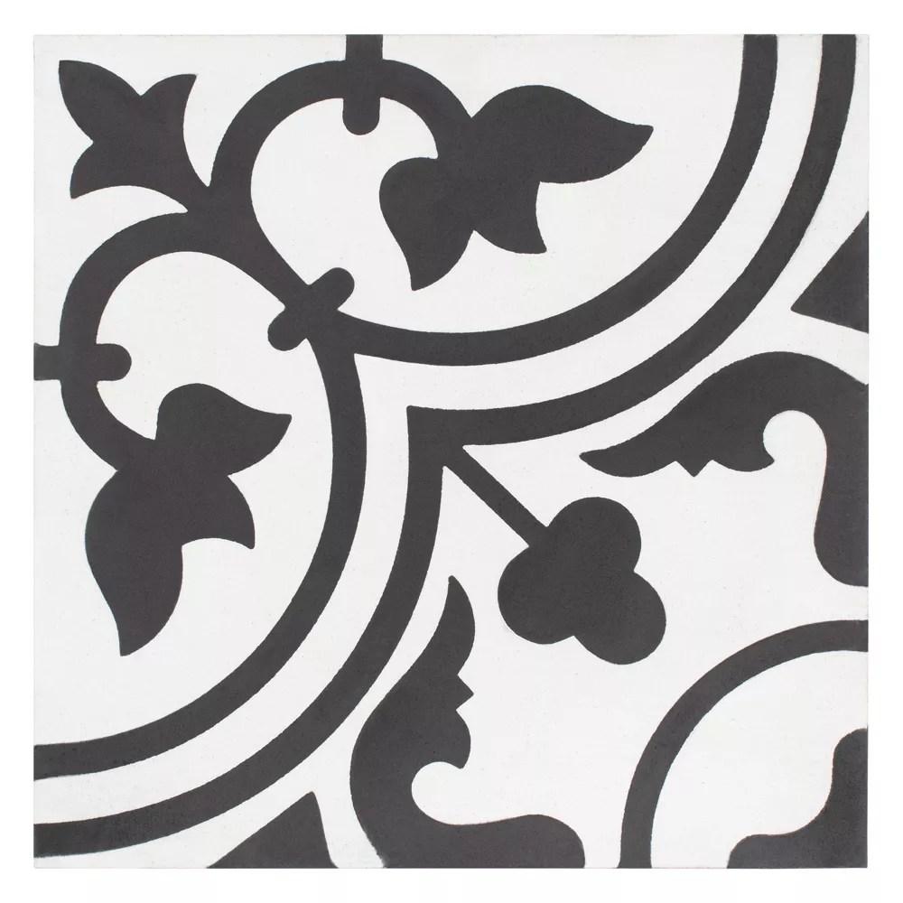 cemento arte snowcap 7 7 8 inch x 7 7 8 inch cement handmade floor and wall tile 5 5 sq ft case