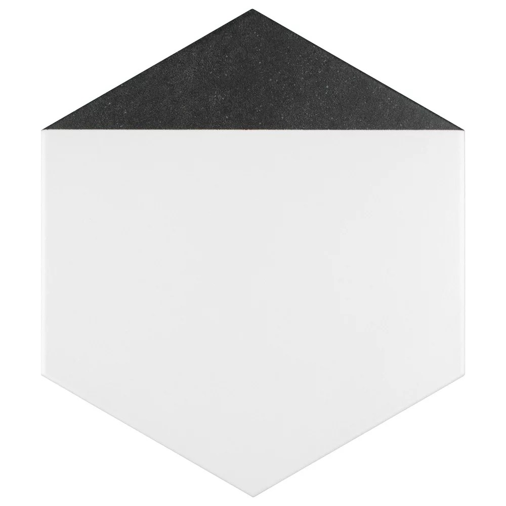 peak hex nero 8 5 8 inch x 9 7 8 inch porcelain floor and wall tile 11 56 sq ft case