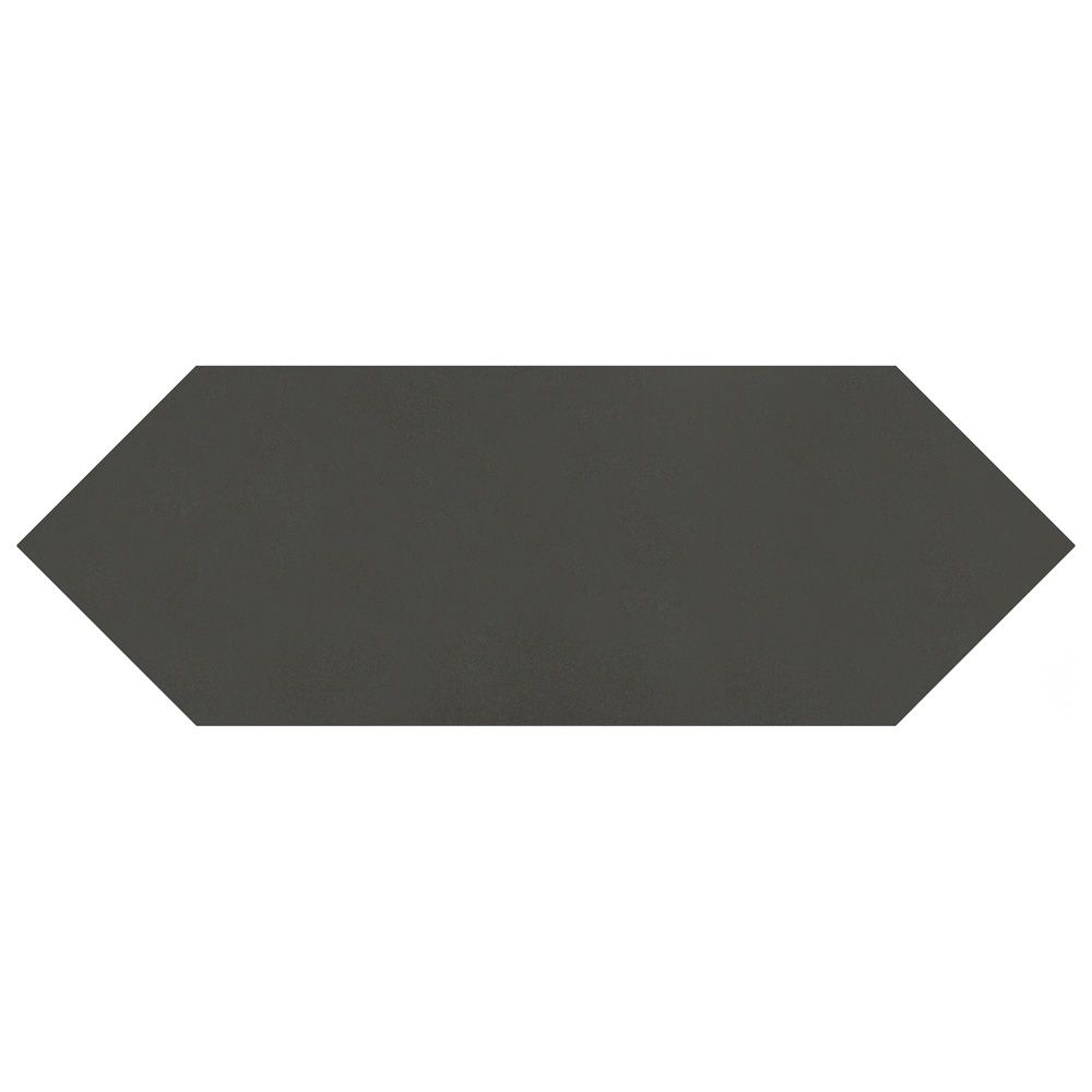 kite black 4 inch x 11 3 4 inch porcelain floor and wall tile 11 81 sq ft case