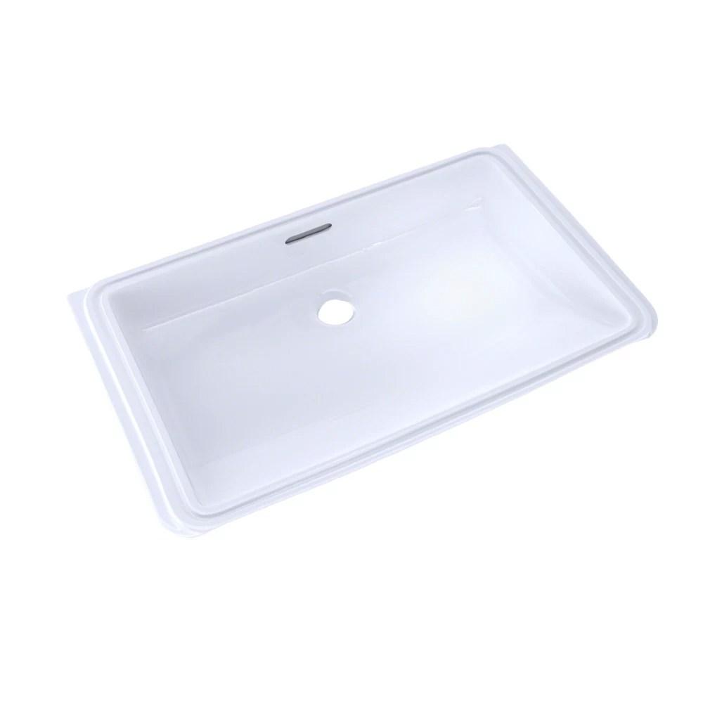 rectangular undermount bathroom sink with cefiontect cotton white