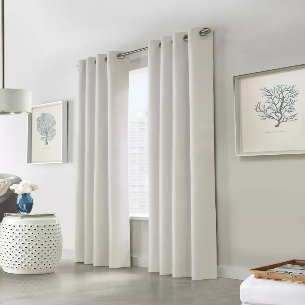 versant room darkening grommet curtain panel 52 w x 108 l in off white