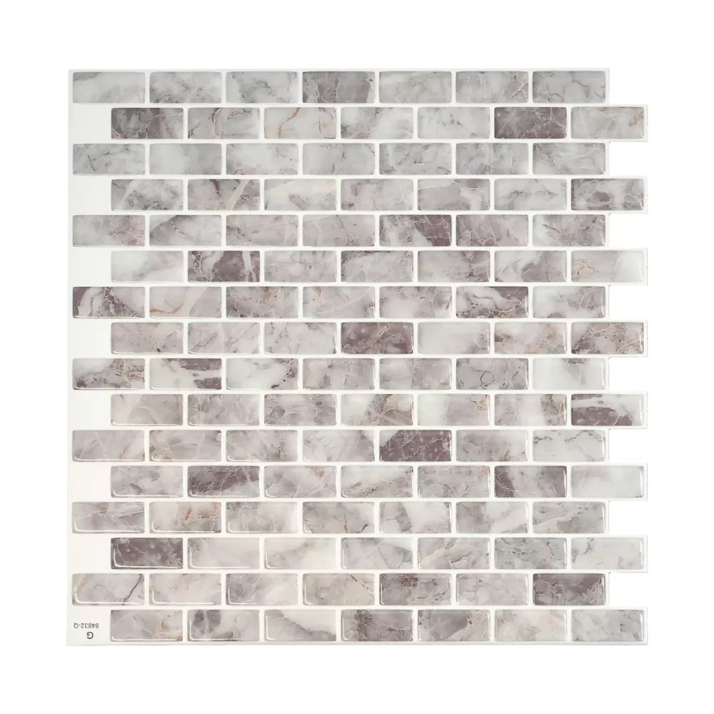 mandolia acosta 9 94 in w x 9 92 in h peel and stick decorative mosaic wall tile backsplash 4 pack