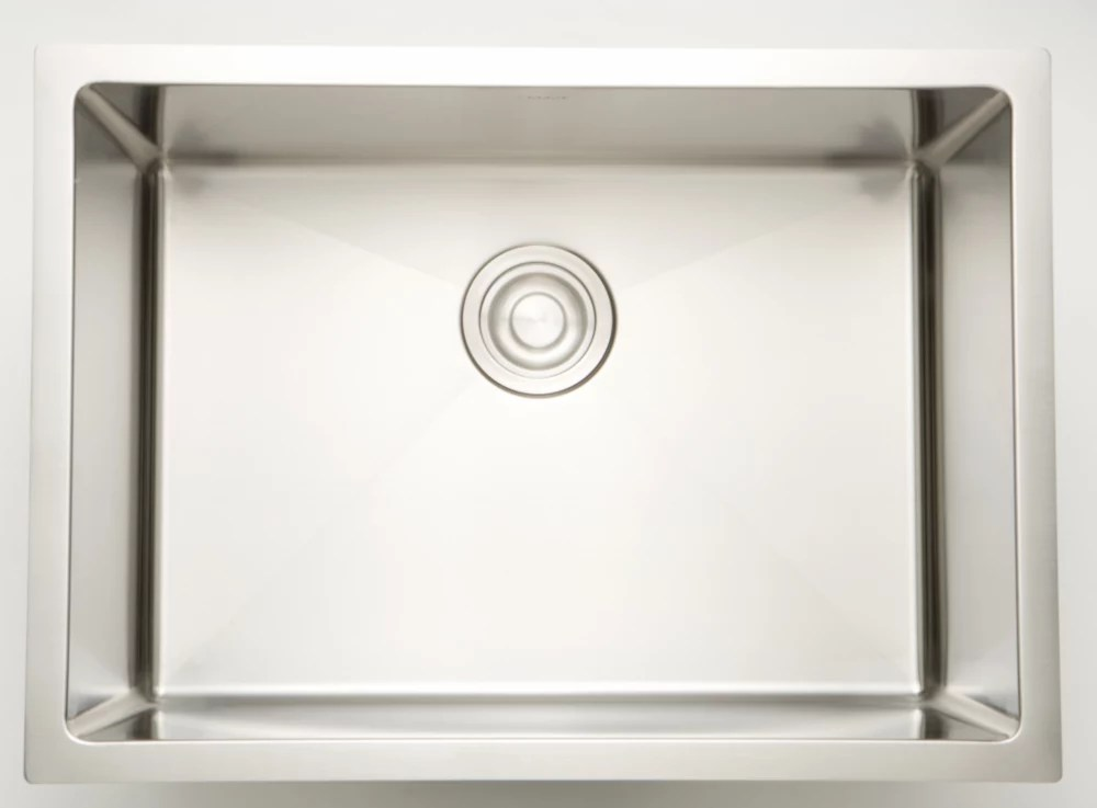 20 inch w single bowl undermount kitchen sink for a wall mount drilling with 15mm radius