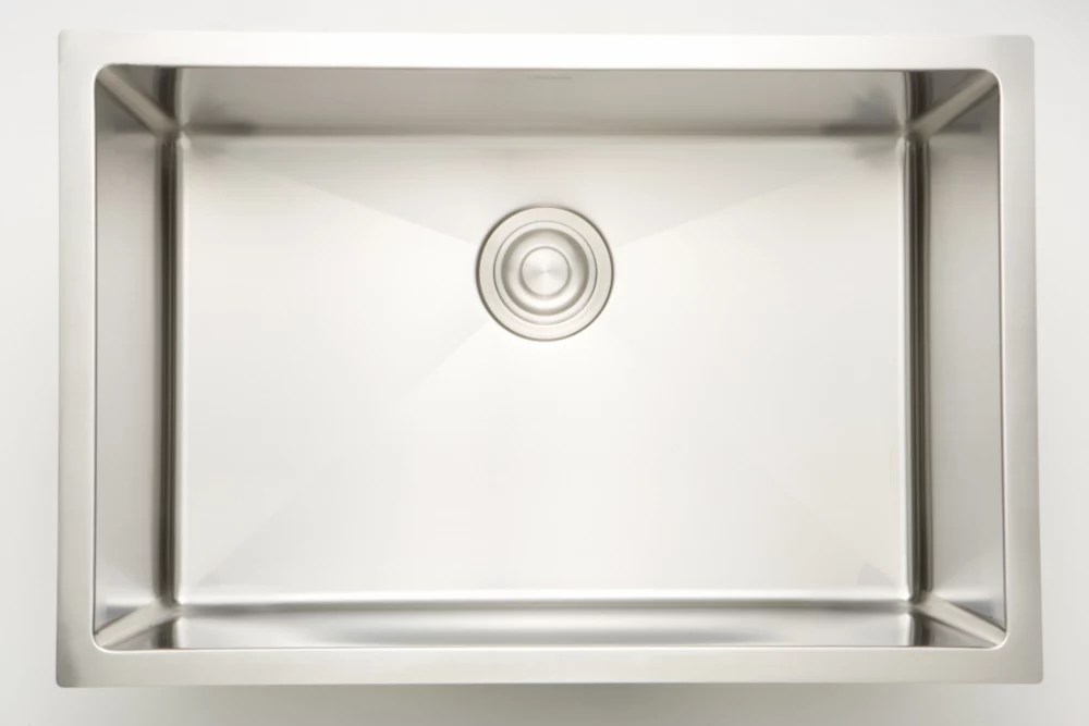 25 inch w x 18 inch d undermount laundry sink for a wall mount faucet drilling