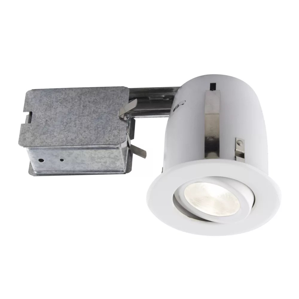 4 inch white recessed led lighting kit with par20 bulb included
