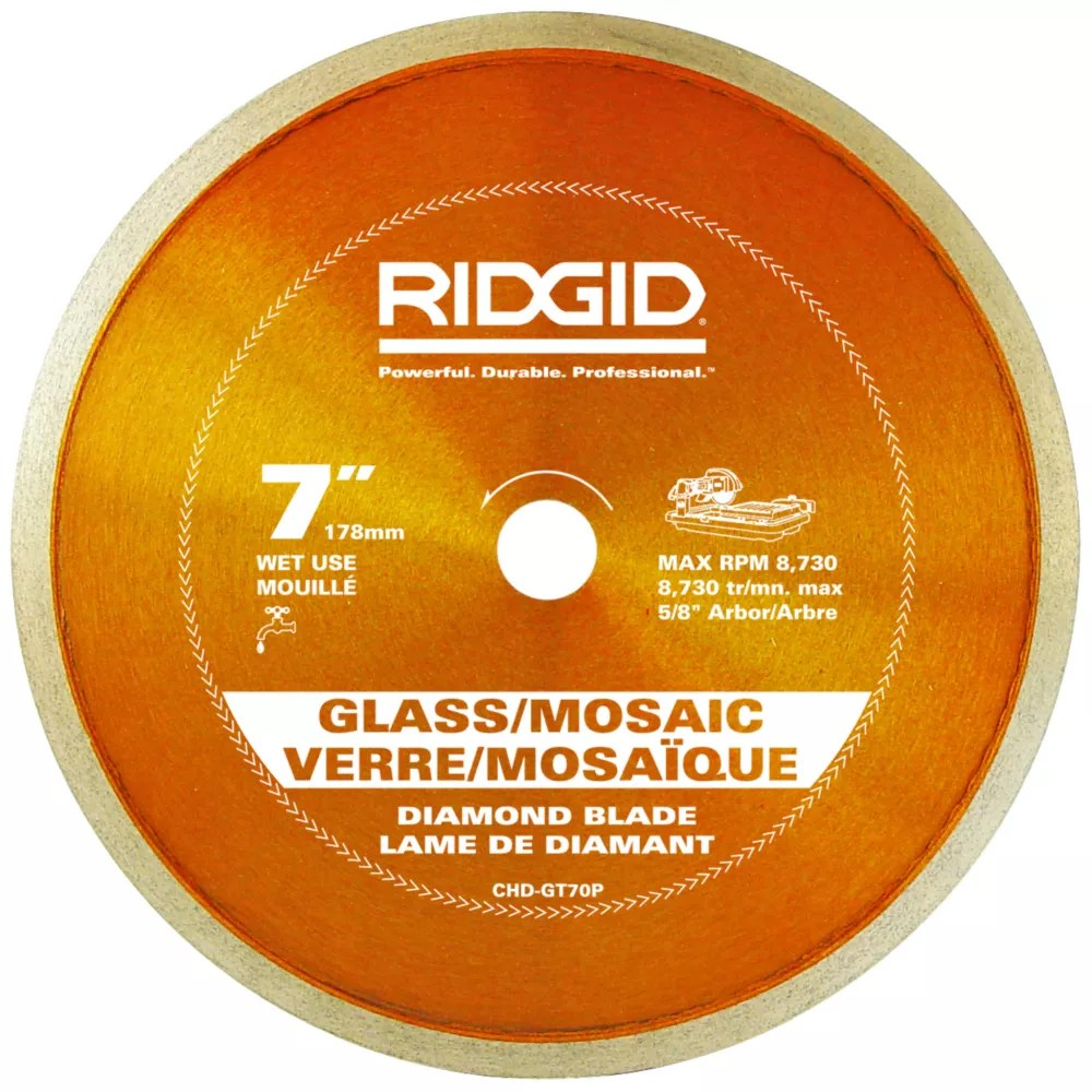 7 inch continuous rim diamond blade for glass tile glass mosaic tile