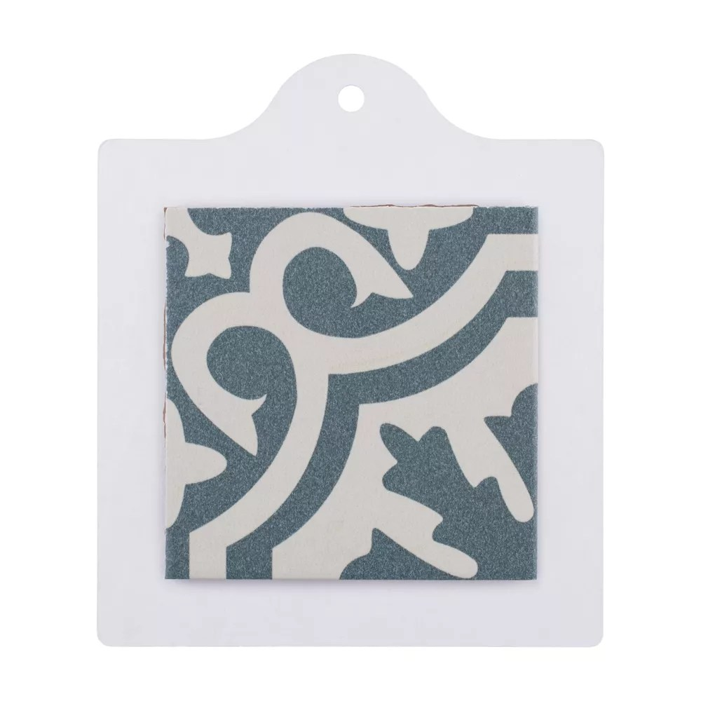 sample berkeley blue 6 inch x 6 inch ceramic floor and wall tile