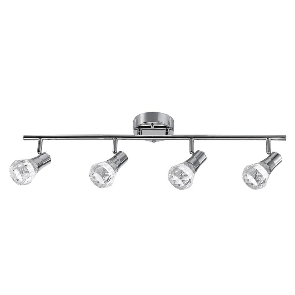 mia 4 light chrome integrated led track lighting kit