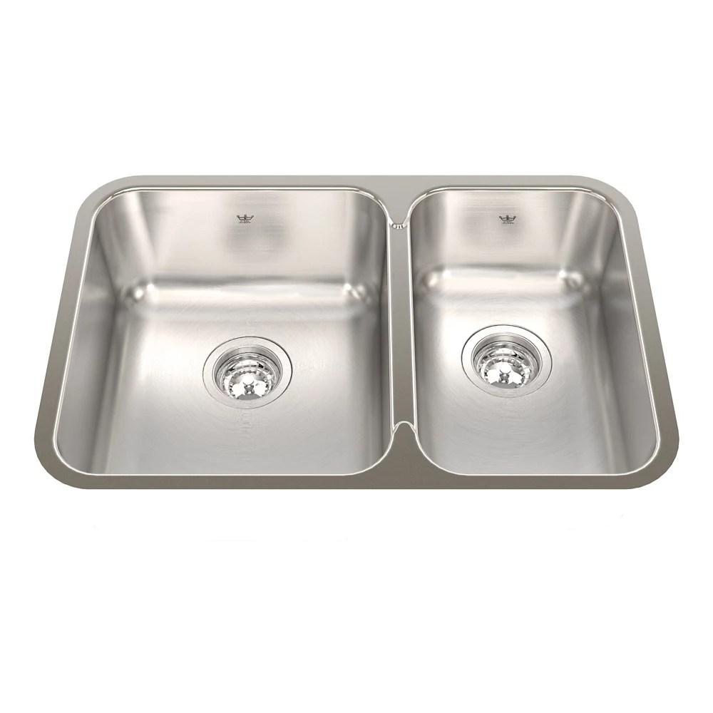 27 inch 60 40 double bowl undermount kitchen sink in stainless steel
