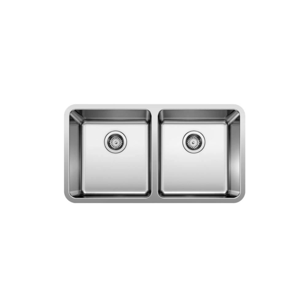 neotera u2 undermount double bowl kitchen sink in stainless steel