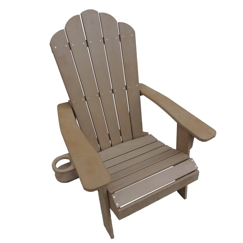 adirondack chair in teak outdoor deck patio seating