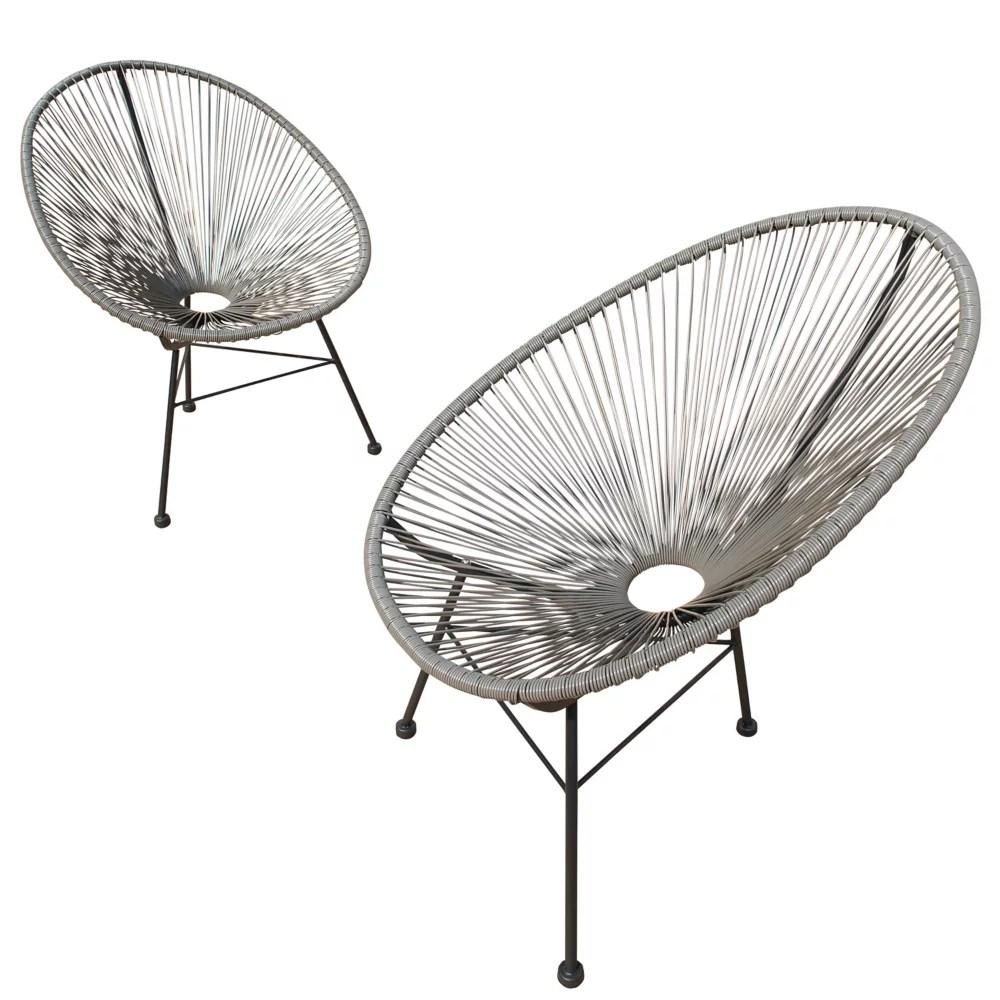 hidalgo wicker patio chairs 2pk grey
