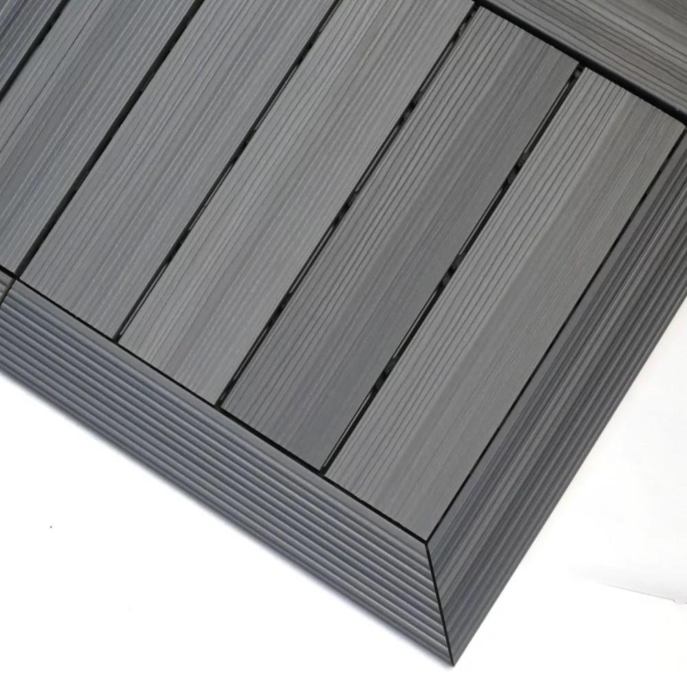1 6 ft x 1 ft quick deck composite deck tile outside corner trim westminster gray 2 pieces box
