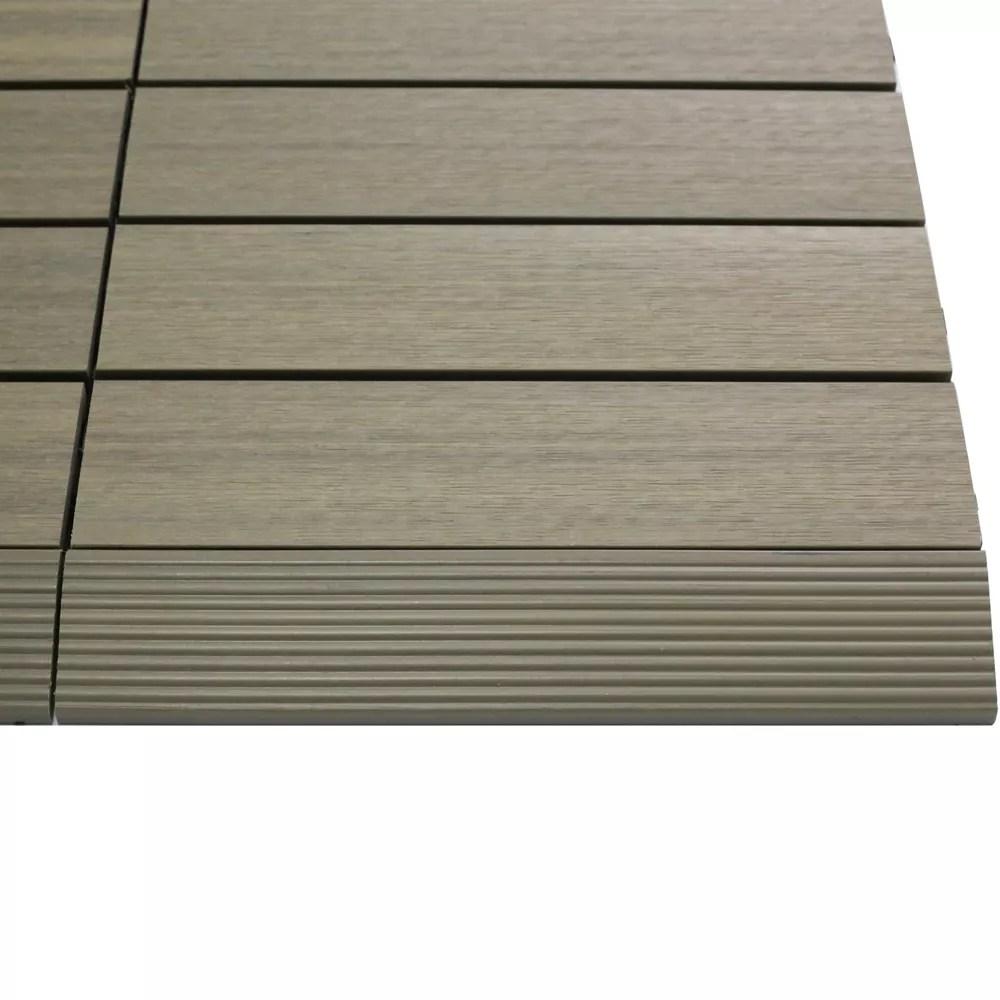 1 6 ft x 1 ft quick deck composite deck tile straight trim in roman antique 4 pieces box