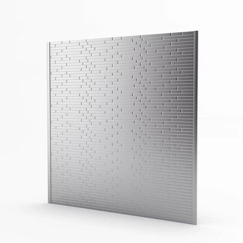 linox stainless 29 61 inch x 30 75 inch x 5 mm metal self adhesive roll backsplash mosaic tile