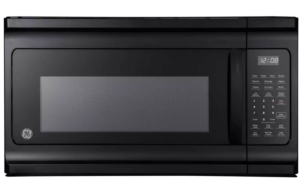 30 inch w 1 6 cu ft over the range microwave oven in black