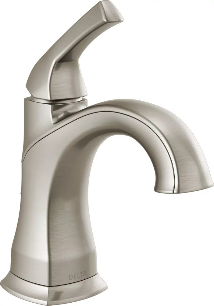 portwood 4 in centerset single handle bathroom faucet in spotshield brushed nickel