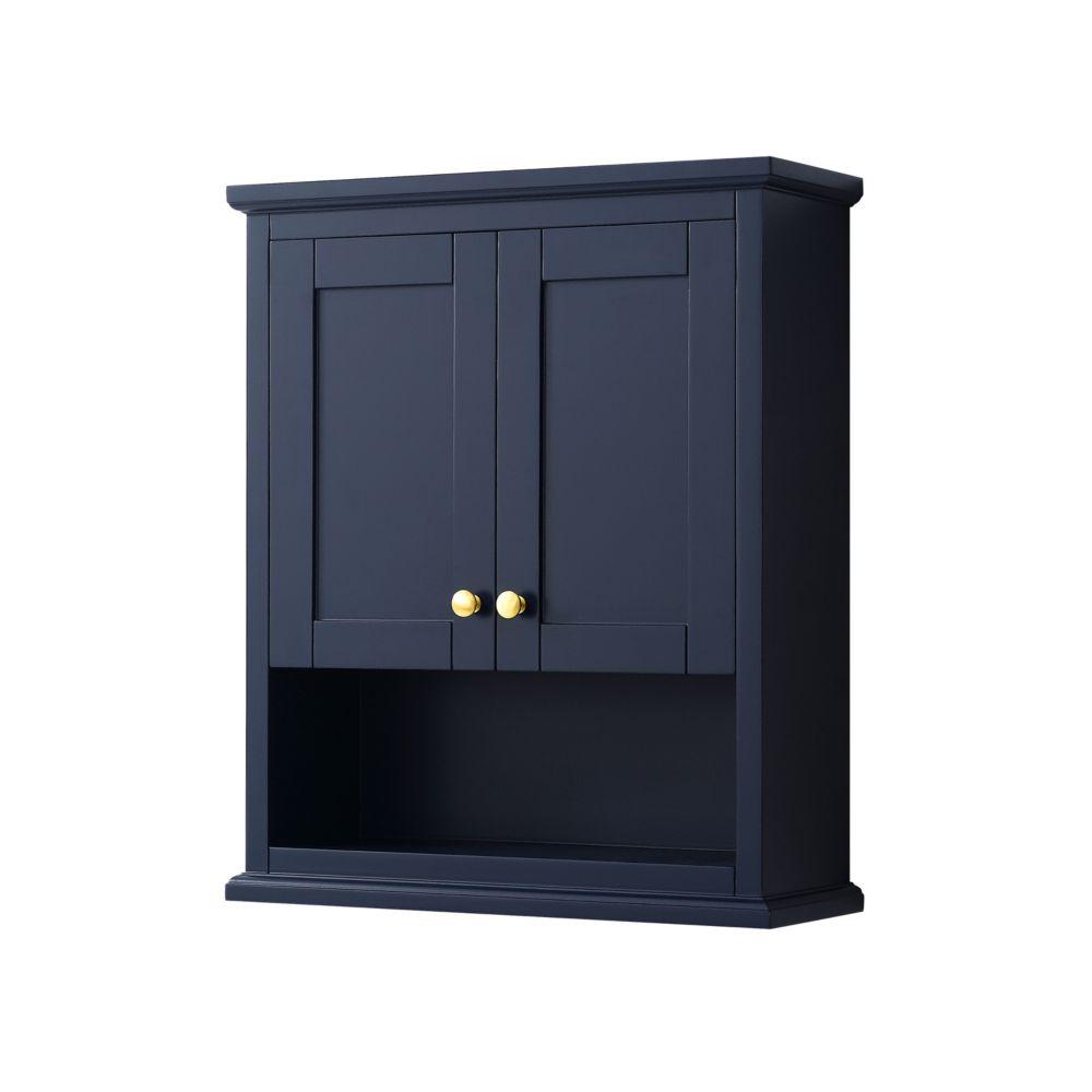 meuble avery de rangement mural pour salle de bains en bleu fonce