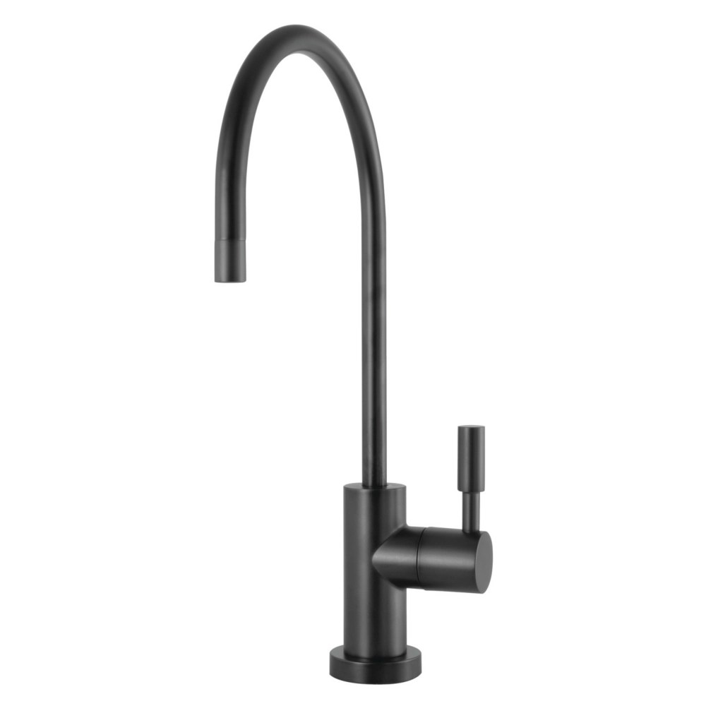 replacement drinking water single handle beverage faucet in matte black for filtration systems