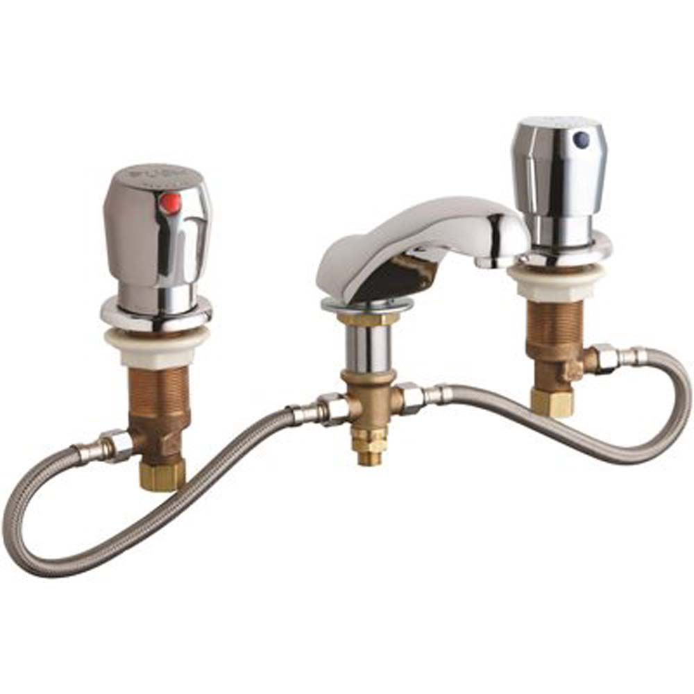 concealed hot and cold water metering sink faucet lead free