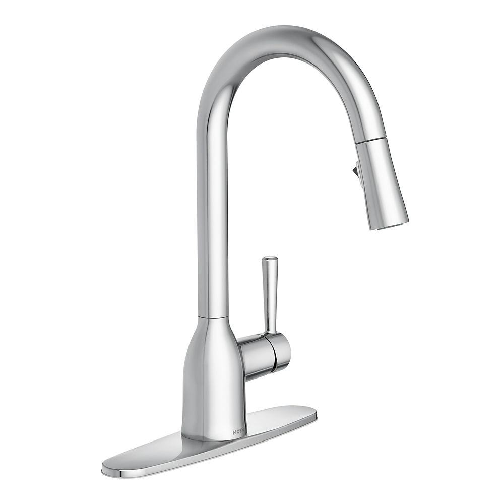 adler single handle pull down sprayer kitchen faucet with reflex in chrome