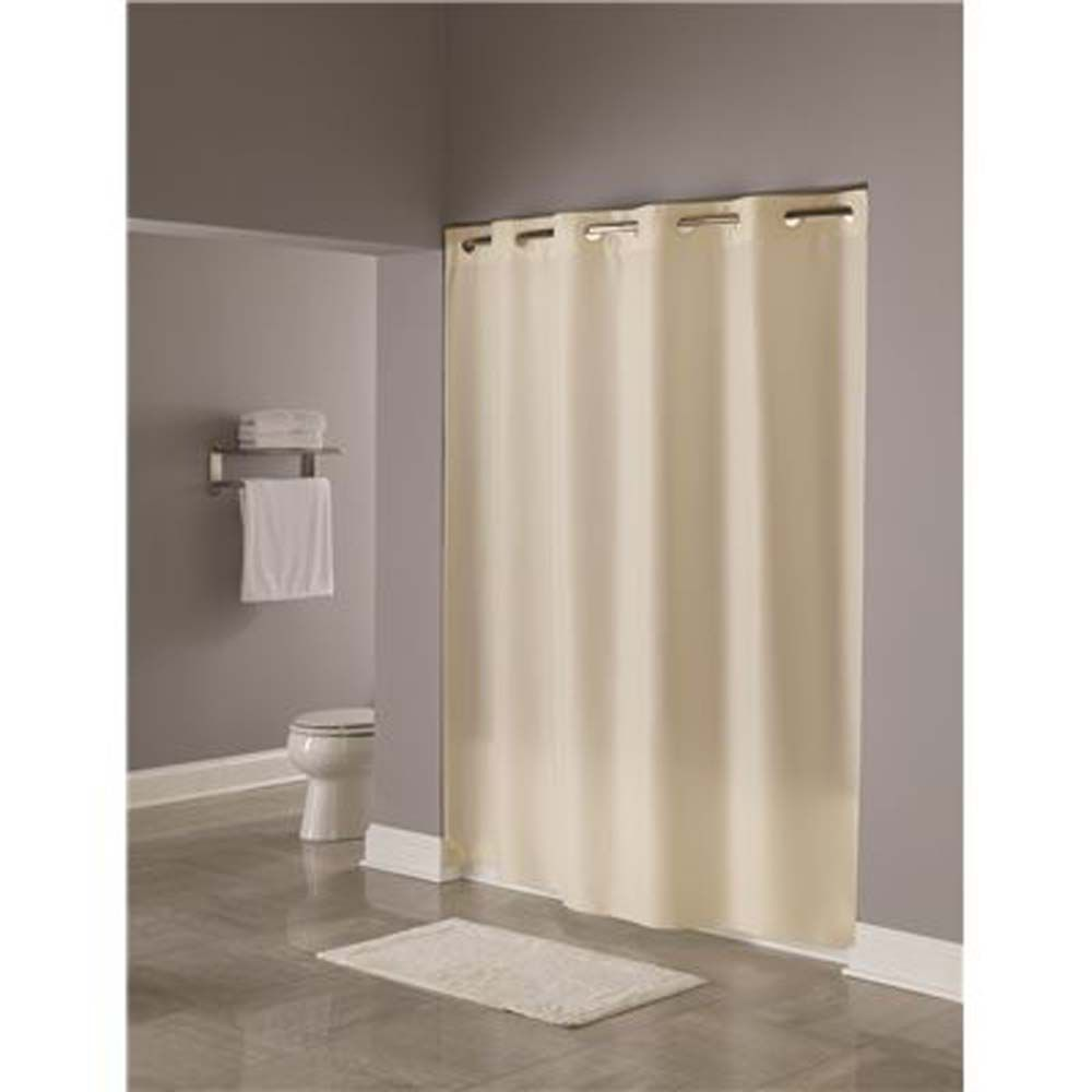 71 inch x 74 inch plain weave polyester shower curtain