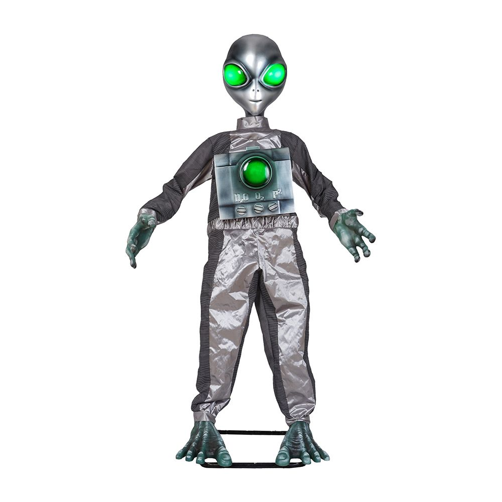 If you buy from a link, we may earn a commission. Home Accents Holiday 6 Ft Animated Led Alien Halloween Decoration The Home Depot Canada