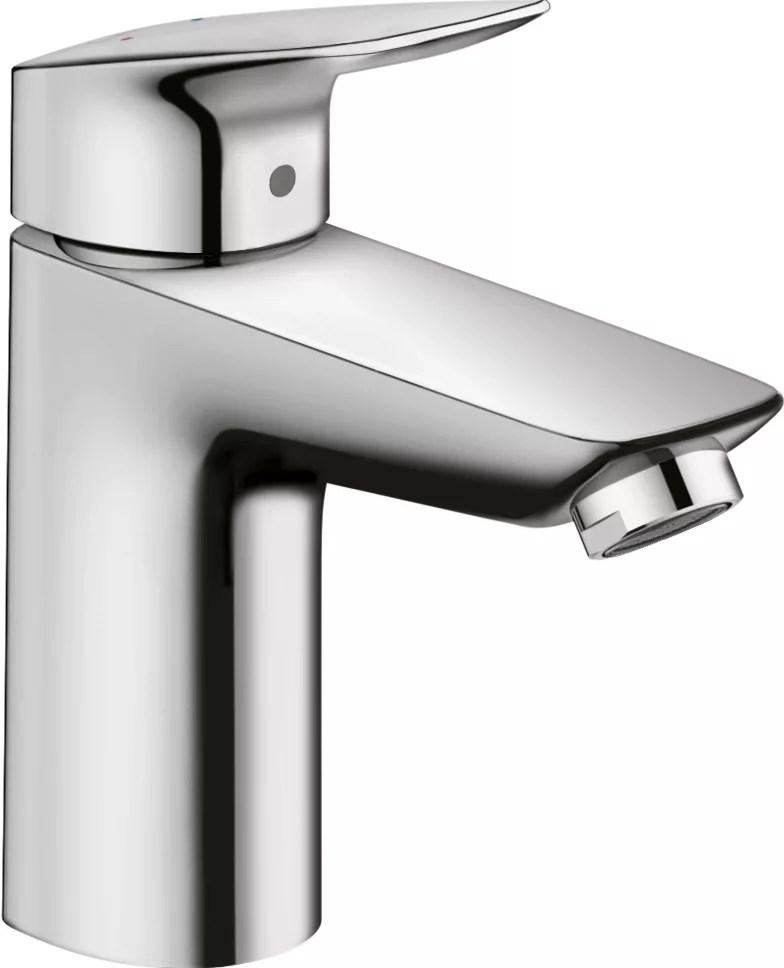 logis 100 robinet de salle de bains monotrou monotrou a poignee unique avec vidange en chrome