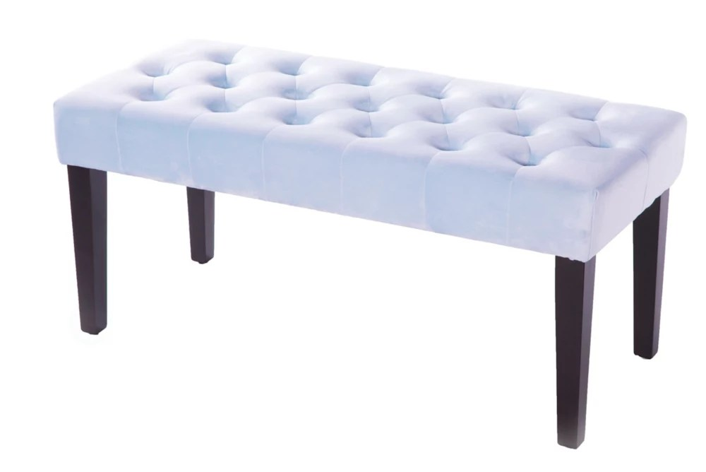 velvet tufted modern ottoman coffee table bench azure