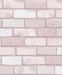 Arthouse Diamond Pink Brick Wallpaper The Home Depot Canada