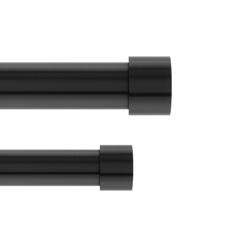 umbra cappa 1 dbl rod 120 180 brunished black