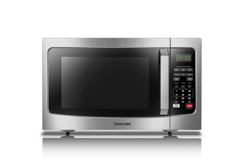 1 2 cu ft 1100w countertop microwave oven in stainless steel