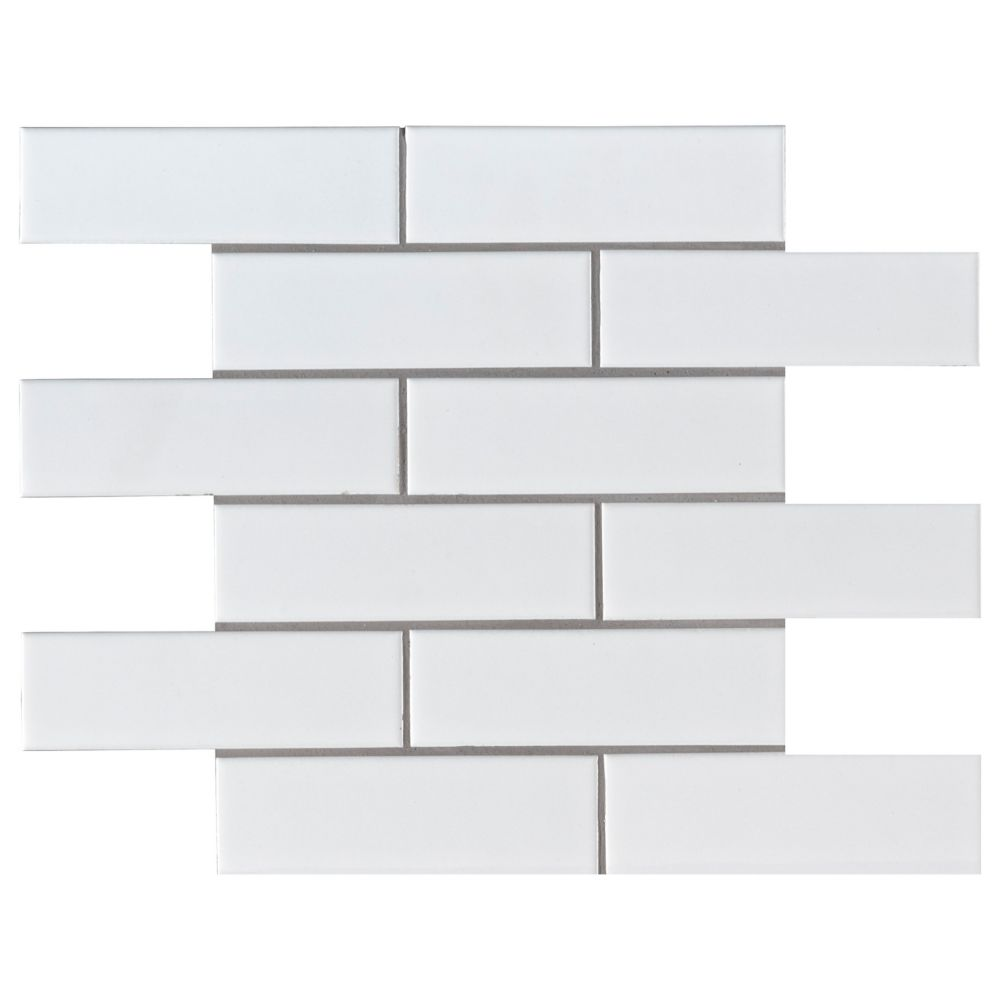 bristol snow subway 11 3 in x 11 57 in x 6 mm porcelain mesh mounted mosaic tile 0 91 sq ft