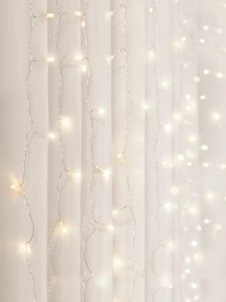 3 5 ft x 5 ft cascading led lighting warm white curtain lights