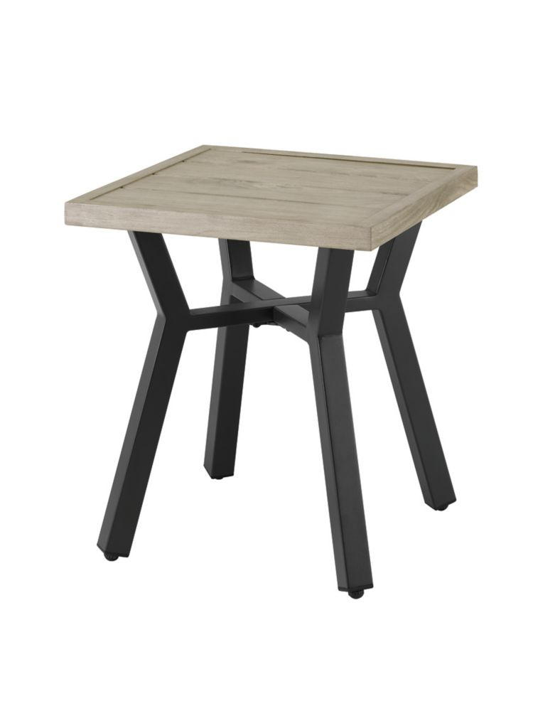 mix match square slat patio accent table in graphite