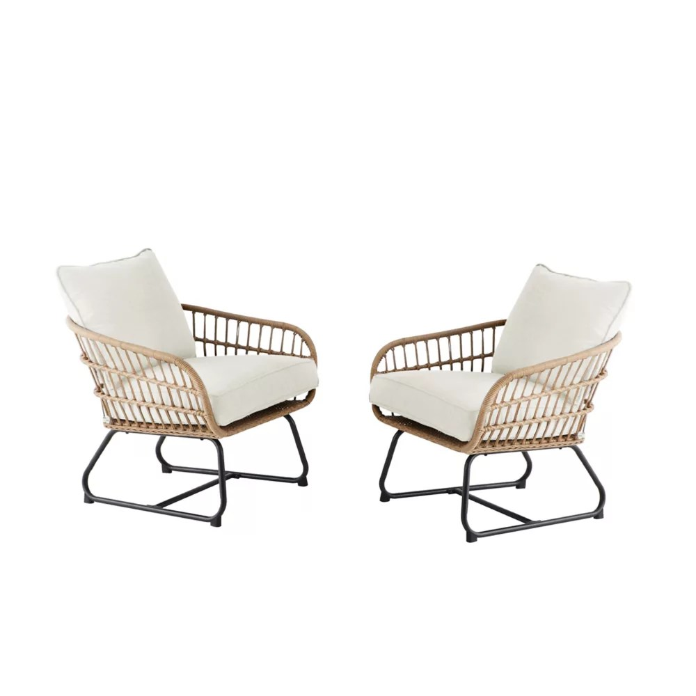 cayman white all weather wicker patio club chair 2 pack
